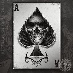 Tattoo Designs for Future Tattoos Ace Of Spades Tattoo, Card Tattoo Designs, Spade Tattoo, Dragons Tattoo, Aces And Eights, Knight Tattoo, Skull Stencil, Magic Tattoo, Crane