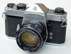 """My first """" real camera"""" 1970 Asahi Pentax Spotmatic SP 35mm SLR Camera + 50mm/F1.4 Super-Takumar"""