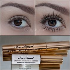 """#MakeupMarch Day 4 """"Daytime Lk"""".. here is my daytime everyday lashes using the TOO-FACED Better Than False Lashes Nylon Lash Extension System! Do you guys own this kit? I know the first time I tried applying, my lashes looked like tarantula hairs but as u practice, the results are incredible❤ I have very short lashes but I'm working on building them back with #RapidLash eyelash enhancing serum found at Ulta✨ #makeup #naturallashes #toofaced #betterthanfalselashes #mascara #v..."""