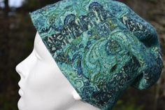 tourquoise scrunchy felted hat, by www.tashwesp.com