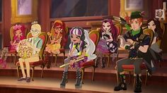 Briar, Humphrey, Rosabella, Melody, Raven, Sparrow & ..... background character