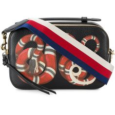 Gucci large Dionysus dog embroidered bag ($3,775) ❤ liked on Polyvore featuring black