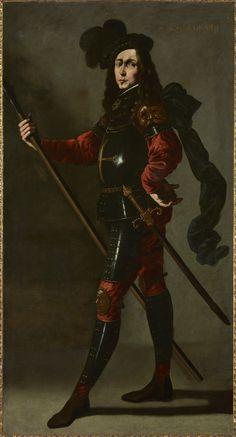"""""""El Infante P. Bustos de Lara"""" hacia 1640-1645 Francisco de Zurbarán (Fuente de Cantos, Badajoz, 1598 – Madrid, 1664)"""