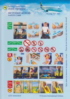 Safety Card  Ukraine International Airlines B737-400 (1)