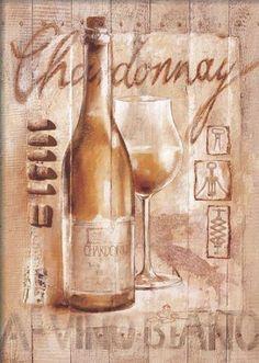 Sonia-Svenson-Chardonnay-Fertig-Bild-50x70-Wandbild-Wein-Kueche