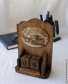 """Вечный календарь """"Ретро"""" (продано) - коричневый,вечный календарь,для офиса"""