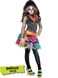 Girls Skelita Calaveras Costume Deluxe - Monster High - Party City