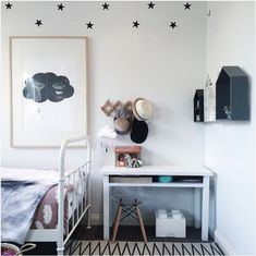 Love the idea of stars just on upper area of wall
