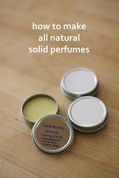 How to Make Solid Perfumes- step by step guide with photos on making all natural perfumes from essential oils Perfume Diesel, First Perfume, Solid Perfume, Essential Oil Perfume, Essential Oils, Parfum Bio, Beeswax Recipes, Soap Recipes, Homemade Beauty Products