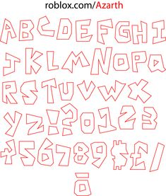 Full remake of a list of ROBLOX letters in vector format, so you can resize to whatever you'd like. Roblox Birthday Cake, Roblox Cake, Birthday Cards, 6th Birthday Parties, 8th Birthday, Birthday Party Decorations, Bolo Chanel, Cupcake Toppers Free, Cake Templates