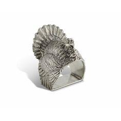 Vagabond House Pewter Metal Owl Harvest Napkin Ring 2 Diameter Sold as Single Ring Artisan Crafted Designer Rings
