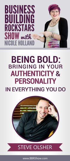 Steve Olsher on Being Bold: Bringing In Your Authenticity & Personality In Everything You Do   Famous for helping individuals and corporations become exceptionally clear on their WHAT – that is, the ONE thing they were created to do – his practical, no-holds-barred approach to life and business propels his clients towards achieving massive profitability while also cultivating a life of purpose, conviction, and contribution.  Learn more: http://bbrshow.com/podcast/071/