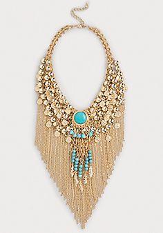 Bead & Fringe Necklace
