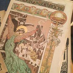 1897年の文芸誌 クリスマス号らしく 表紙が美しい  #papier #litterature #紙ものマニア #紙もの #noel #soleildudimanche #雑誌 #Gallery壹 #GalleryIchi