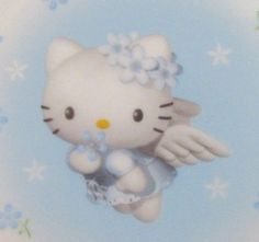 Hello kitty wallpaper uploaded by Desi on We Heart It Chat Hello Kitty, My Melody Sanrio, Sanrio Characters, Photo Wall Collage, Blue Aesthetic, Cute Icons, Pics Art, New Wall, Aesthetic Pictures