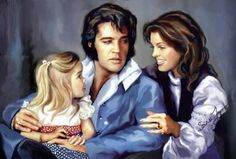 "takingcare-of-business: ""Amazing paintings of Elvis and Priscilla Presley by Sara Lynn Sanders "" Elvis Presley Stamps, Elvis Presley Born, Elvis Presley Memories, Elvis Presley Pictures, Elvis Presley Family, Elvis And Priscilla, Priscilla Presley, Lisa Marie Presley, John Lennon"