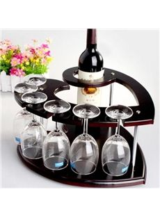 New Style Classic European Heart-Shaped Wood Fashion Wine Rack