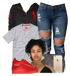 """""""Untitled #510"""" by princess-miyah ❤ liked on Polyvore featuring Ralph Lauren, Louis Vuitton, adidas Originals and Pori"""