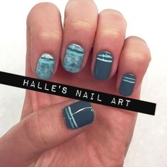 Nailpolis Museum of Nail Art   Keepin it Teal by Halle Butler