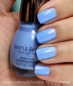 Sinful Shine With Gel Tech- alfresco.....this is the best nail polish I've ever had! It doesn't chip easily and doesn't even need a clear coat. Highly recommended