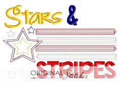 Stars & Stripes, Machine Embroidery and Applique Designs Downloads | Original Stitches - Embroidery and Applique Design Store