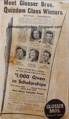 Janice Bailey, Simeon Margolis, Dolorese Shuma, Carol Ann Protzeller and John Kolostyak Johnstown Pennsylvania, Carol Ann, Event Ticket, Vintage, Vintage Comics