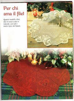Hobby lavori femminili - ricamo - uncinetto - maglia: centrino rotondo