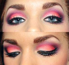 Pink and purple. I've tried something like this, it's really bright.
