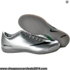 Nike Mercurial Vapor IX IC Indoor Shoes Silver Black Green Cheap Discount Soccer Cleats