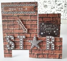 Man Made collection from Craftwork Cards. Made by DT member Tina Boyden