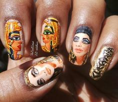 Best of Instagram Nails: Cleopatra Nails | Egyptian Nails | Crazy Good Nails | Nail Art | Nails as Artwork | Portrait Nails | Riddhi Nair | Nail It Magazine