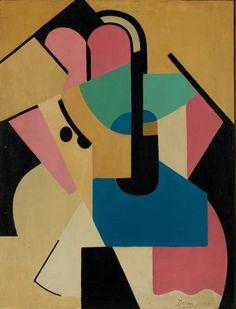 Marthe Donas, Abstracte Compositie nr. VI, 1920 (privéverzameling) Museum voor Schone Kunsten Gent | Tentoonstellingen | Donas | Donas