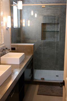 Concrete Sink & Shower - Concrete Wave Design |  Concrete Sinks, Concrete Countertops, Concrete Firepits, Concrete Furniture | Southern CA