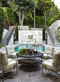 I have always liked levels in gardens and homes...old world style
