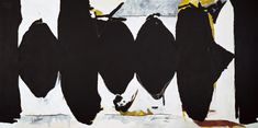 Robert Motherwell: Elegy to the Spanish Republic No. Robert Motherwell, Museum Of Modern Art, Art Museum, Abstract Expressionism, Abstract Art, Black Wood Texture, Barnett Newman, Royal Academy Of Arts, Action Painting