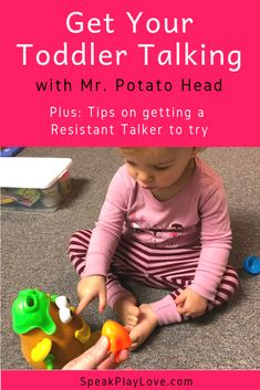 Use play based early learning to get toddler talking! Lots of early intervention speech therapy tips for parents. Educational Activities For Toddlers, Speech Therapy Activities, Infant Activities, Preschool Activities, Articulation Activities, Play Therapy, Play Based Learning, Toddler Learning, Toddler Preschool