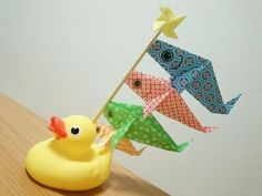 折り紙 鯉のぼりの折り方 How to Make an Koinobori -Origami- Lv.★★☆☆☆