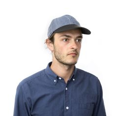 alex crane makes clothes and other useful things for modern, working people Sun Cap, Working People, Crane, Caps Hats, Style Guides, Blue Denim, Charcoal, Black Leather, Men Casual
