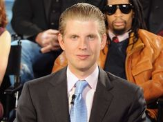 Eric Frederick Trump is an American businessman and philanthropist. He is the third child and second son of Donald and Ivana Trump. Trump Kids, Trump Picture, Trump Photo, Eric Trump, John Trump, Smart People, Funny People, Donald Trump Sohn