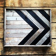 Reclaimed wood art panel