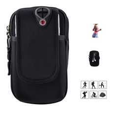 Sport Armband,Qcute Running Arm Bag Pouch Multifunctional Pockets with Earphone Hole for iPhone 6s 6s Plus Samsung (Black/Larger). MATERIAL: High density lycra + soft neoprene, comfortable, ultra lightweight and sweat resistant. DOUBLE POCKETS: One zipper pocket + one velcro pouch, provide great protection for your cellphone and keys, changes and other small stuffs. EARHONE HOLE: Humanization design of earphone hole, enables you to enjoy music when running and working out. ADJUSTABLE…