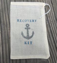 12 silver glitter anchor hangover kits, nautical hangover kits, nautical bling…