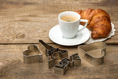 Coffee with croissant by LiliGraphie on Creative Market
