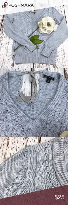 """💕SALE💕Banana Republic Light Blue Sweater Fabulous 💕Banana Republic Light Blue Sweater 24"""" from the top of the shoulder to the bottom 17"""" from armpit to armpit 24"""" Sleeve Length ties at neck in back Banana Republic Sweaters"""