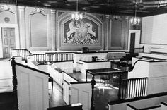 Old Bailey Courtroom, ground floor of Victoria Hall, Cobourg, Ontario