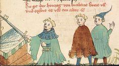 """Rudolf <von Ems> Willehalm von Orlens — Straßburg - """"Werkstatt von 1418"""", um 1420 Cod. Pal. germ. 323 Folio 270v"""