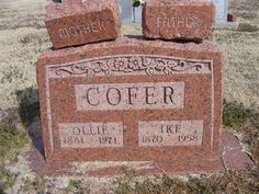 """Born in 1870 and died in 1958 Ninnekah, Oklahoma Isaac Anderson """"Ike"""" Cofer Find A Grave, Knight, Ancestry, Oklahoma, Peace, Facebook, Group, History, Photos"""