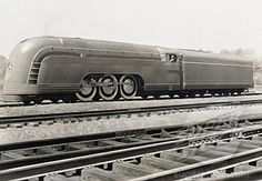 Stock Photo #486-187, Train on a railroad track, Mercury Streamlined Steam Locomotive, New York Central Railroad