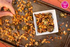Pumpkin seeds don't have to be bland. Spice up your life with these Jalapeño Paleo Pumpkin Seeds, your mouth will thank you for it!