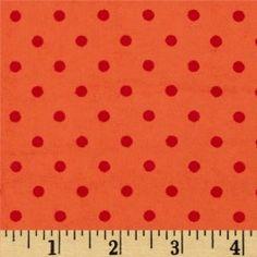 Flannelle imprimé - small dots - peach/orange